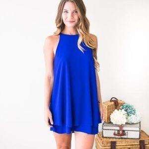 Lulu's Royal Blue Slip Dress Size Small